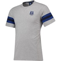 Everton Core Basic T-Shirt with Stripe -Grey Marl - Mens