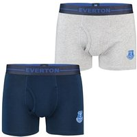 Everton 2 Pack Boxers - Navy/Grey - Mens