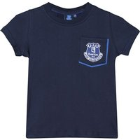 Everton Core Pocket Tee With Pop Contrast Colour-Navy-Infant Boys