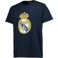 Real Madrid Crest T-Shirt - Navy - Junior