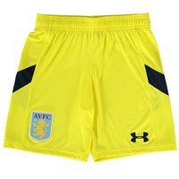 Aston Villa Home Goalkeeper Shorts 2016-17 - Kids Yellow