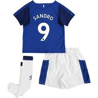Everton Home Infant Kit 2017/18 with Sandro 9 printing