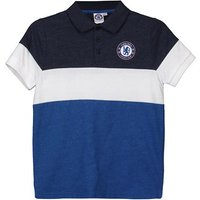 Chelsea Colour Blocked Polo Shirt - Blue/Navy/White - Infant Boys