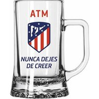 Atlético de Madrid Never Stop Believing Glass Beer Mug - Pint