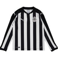 Newcastle United Home Shirt 2017-18 - Kids - Long Sleeve