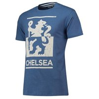 Chelsea Heritage Distressed Print T-Shirt - Blue Marl - Mens