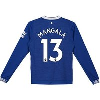 Everton Home Shirt 2018-19 - Kids - Long Sleeve with Mangala 13 printing