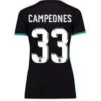 Real Madrid Away Shirt 2017-18 - Womens with Campeones 33 printing