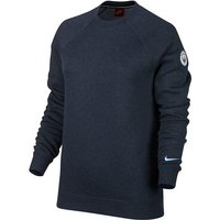 Manchester City Authentic Crew Neck Sweater - Navy - Womens