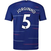 Chelsea Home Stadium Shirt 2018-19 - Kids with Jorginho 5 printing