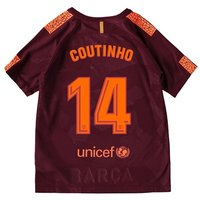Barcelona Third Stadium Shirt 2017-18 - Kids with Coutinho 14 printing