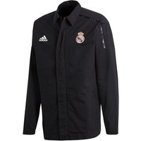 Real Madrid ZNE Woven Anthem Jacket - Black