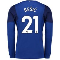 Everton Home Shirt 2017/18 - Junior - Long Sleeved with Bešic 21 printing