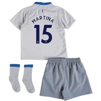 Everton Away Baby Kit 2017/18 with Martina 15 printing