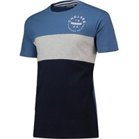 Chelsea Heritage Colour Block T-Shirt - Navy/ Grey/ Blue Marl - Mens