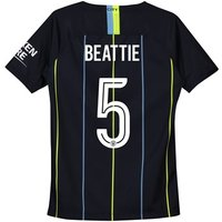 Manchester City Away Cup Stadium Shirt 2018-19 - Kids with Beattie 5 printing
