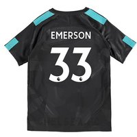 Chelsea Third Stadium Shirt 2017-18 - Kids with Emerson 33 printing