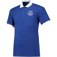 Everton Core Contrast Cuff and Collar Polo -Royal - Mens