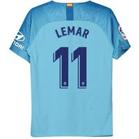 Atlético de Madrid Away Stadium Shirt 2018-19 - Kids with Lemar 11 printing