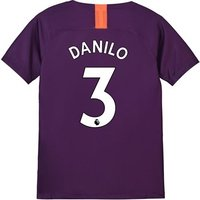 Manchester City Third Stadium Shirt 2018-19 - Kids with Danilo 3 printing