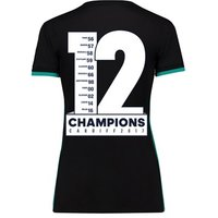 Real Madrid Away Shirt 2017-18 - Womens with Champions 12 printing