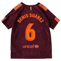 Barcelona Third Stadium Shirt 2017-18 - Kids with Denis Suárez 6 printing