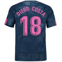 Atlético de Madrid Third Stadium Shirt 2017-18 - Kids with Diego Costa 18 printing