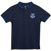 Everton Core Polo Tipped- Navy- Junior Boys