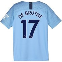 Manchester City Home Stadium Shirt 2018-19 - Kids with De Bruyne 17 printing