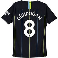 Manchester City Away Stadium Shirt 2018-19 - Kids with Gündogan 8 printing