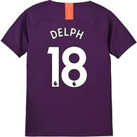 Manchester City Third Stadium Shirt 2018-19 - Kids with Delph 18 printing