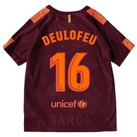 Barcelona Third Stadium Shirt 2017-18 - Kids with Deulofeu 16 printing