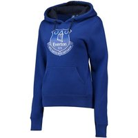 Everton Core Large Crest Hoodie - Royal - Womens