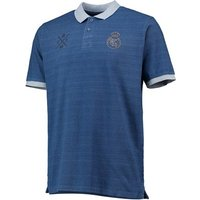 Real Madrid Embroidered Crest Polo Shirt - Blue - Mens