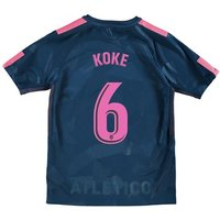 Atlético de Madrid Third Stadium Shirt 2017-18 - Kids with Koke 6 printing