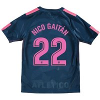 Atlético de Madrid Third Stadium Shirt 2017-18 - Kids with Nico Gaitán 22 printing