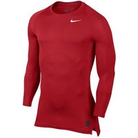 Nike Pro Combat Baselayer Top - Long Sleeve - University Red/Gym Red/White