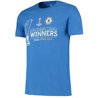 Chelsea 2019 Europa League Winners T-Shirt - Royal Blue - Adult