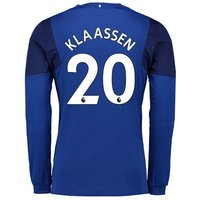 Everton Home Shirt 2017/18 - Junior - Long Sleeved with Klaassen 20 printing