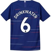 Chelsea Home Stadium Shirt 2018-19 - Kids with Drinkwater 6 printing