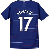 Chelsea Home Stadium Shirt 2018-19 - Kids with Kovacic  17 printing