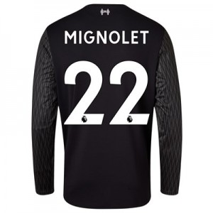 Liverpool Away Goalkeeper Shirt 2017-18 – Long Sleeve with Mignolet 22 printing All items
