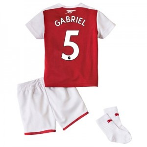 Arsenal Home Baby Kit 2017-18 with Gabriel 5 printing All items