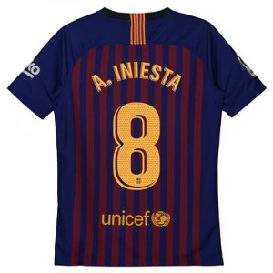 Barcelona Home Vapor Match Shirt 2018-19 – Kids with A. Iniesta  8 printing All items