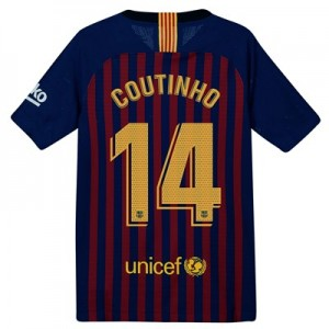 Barcelona Home Vapor Match Shirt 2018-19 – Kids with Coutinho 7 printing All items