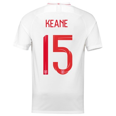 England Home Stadium Shirt 2018 with Keane 15 printing All items