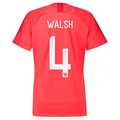 England Away Stadium Shirt 2018 – Womens with Walsh 4 printing All items