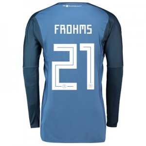 Germany Home Goalkeeper Shirt 2018 with Frohms 21 printing All items