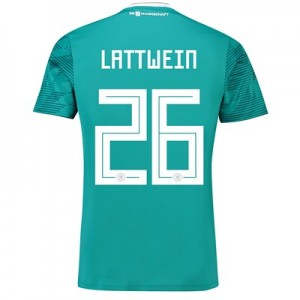 Germany Away Shirt 2018 with Lattwein 26 printing All items