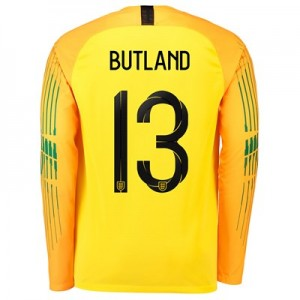 England Goalkeeper Stadium Shirt 2018 with Butland 13 printing All items
